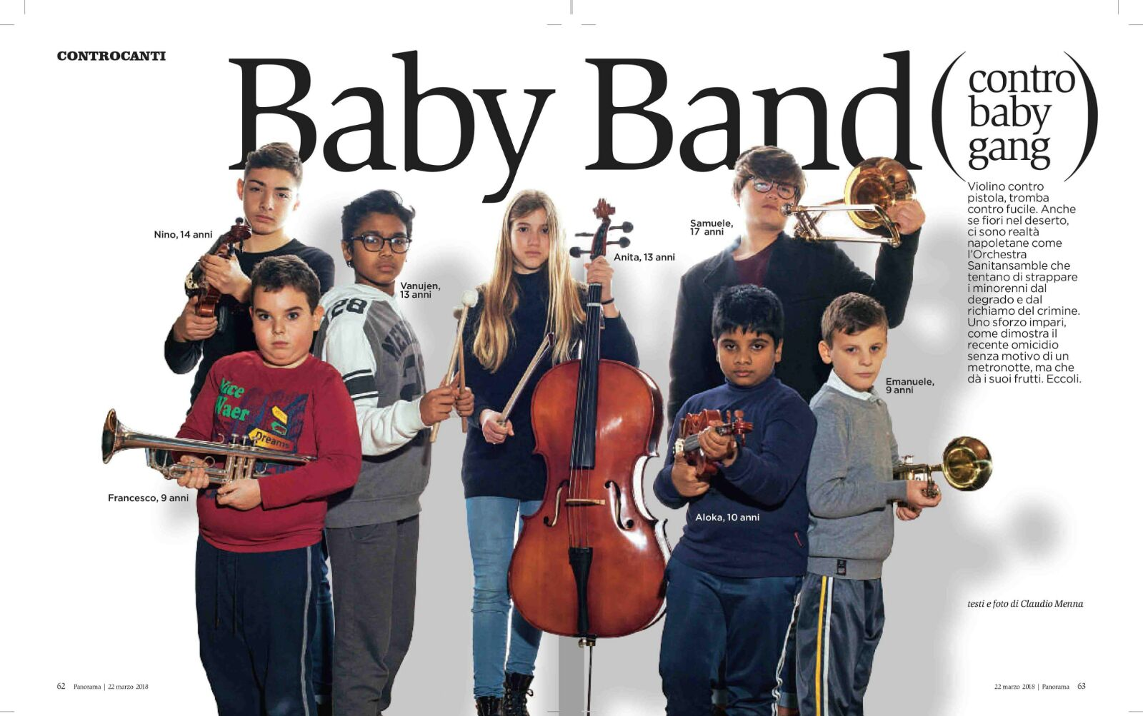 Baby Band su Panorama 22 marzo 2018