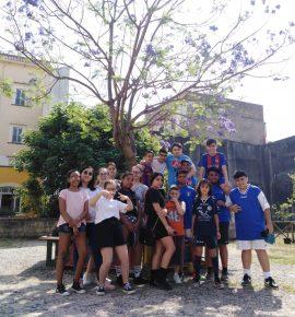 Squadra Sanitansamble per Mediterraneo Antirazzista 2019 al giardino di Piazza Miracoli!