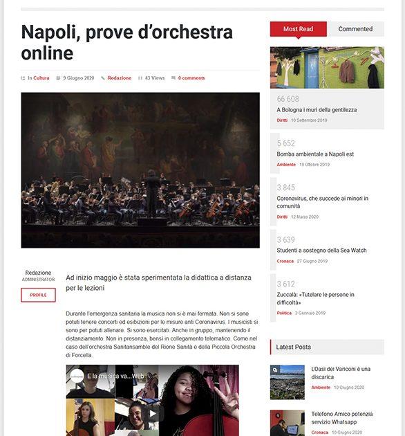 Su Dalsociale24.it: Napoli, prove d'orchestra online