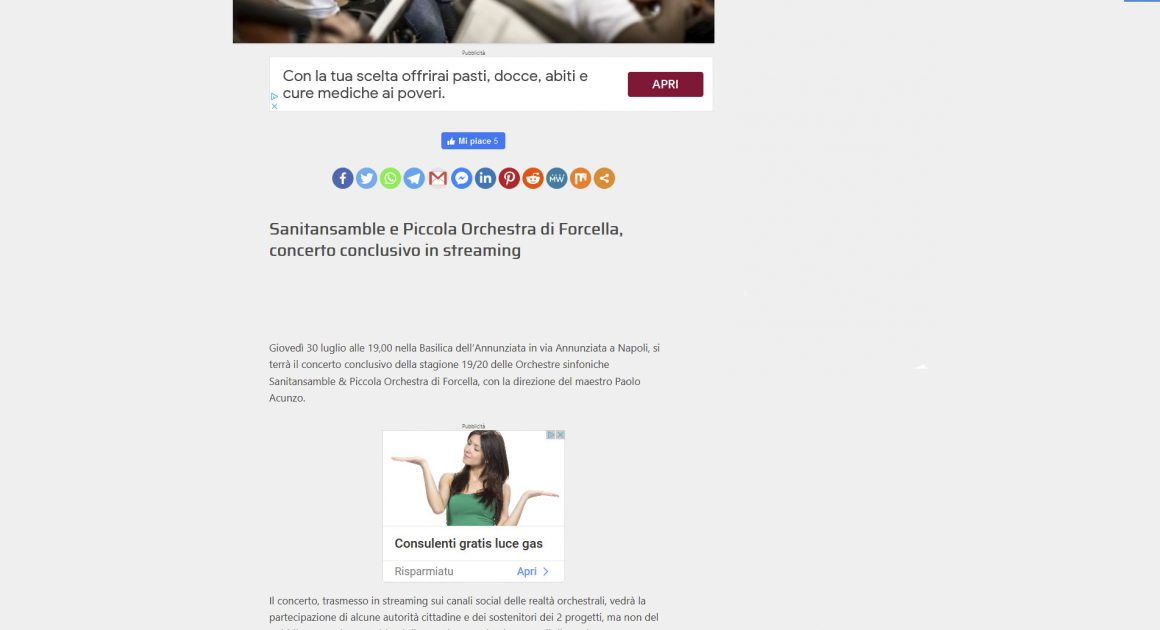 Cronachedallacampania: Sanitansamble e Piccola Orchestra di Forcella, concerto conclusivo in streaming