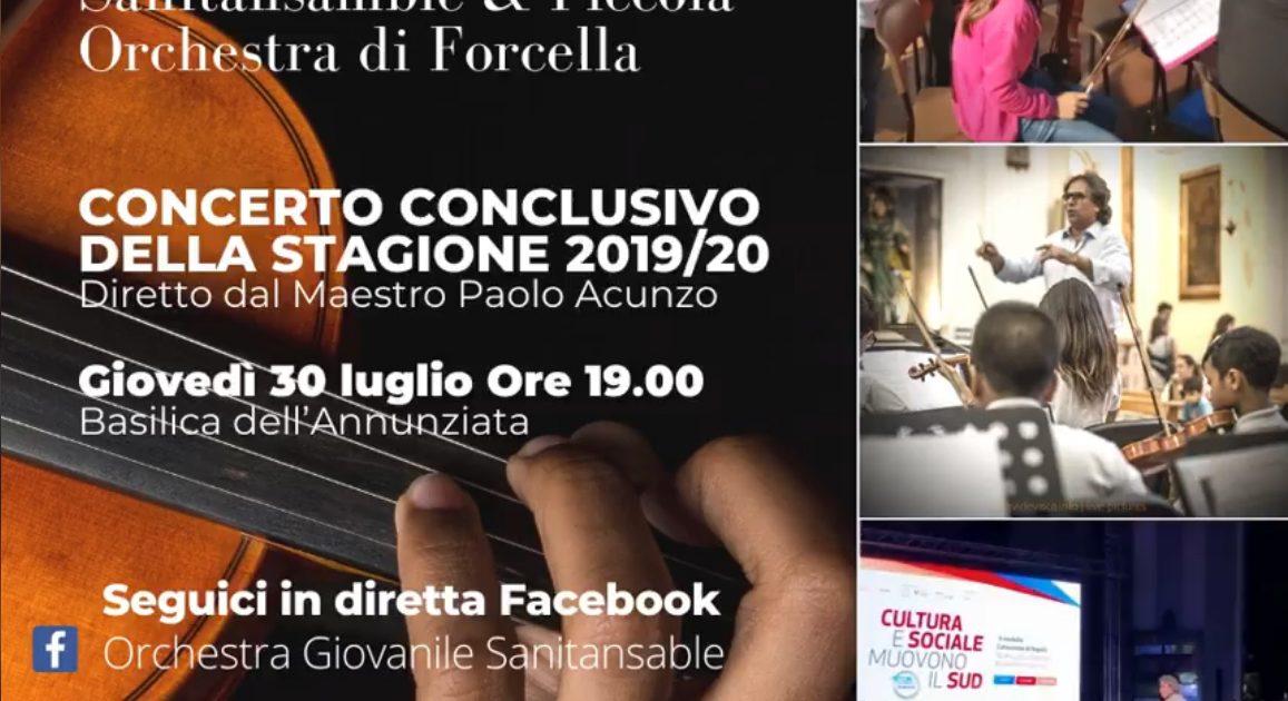 Concerto conclusivo della stagione 19/20 delle Orchestre sinfoniche Sanitansamble & Piccola Orchestra di Forcella